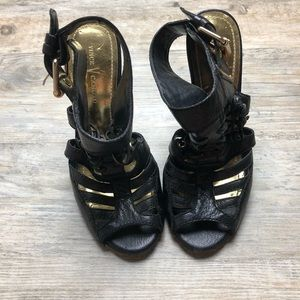 Vince Camuto black heeled sandals